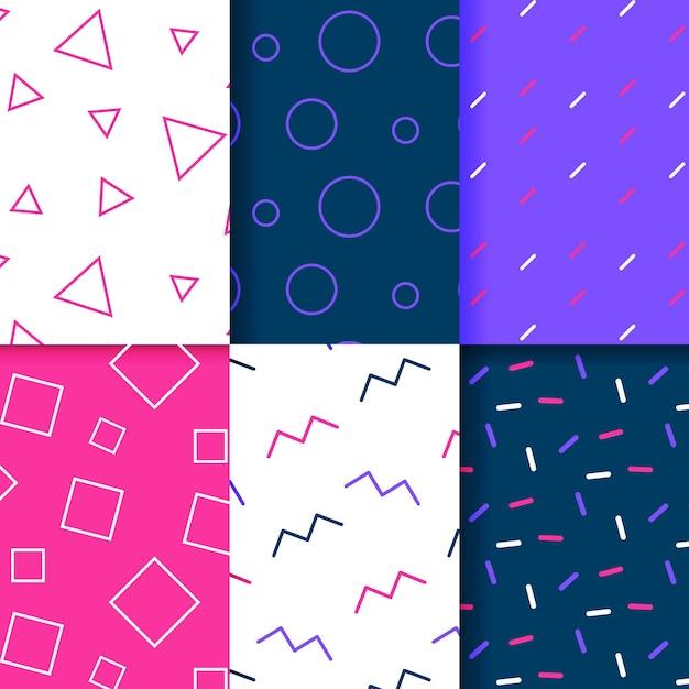 Collection De Motifs Géométriques Minimes Vecteur gratuit