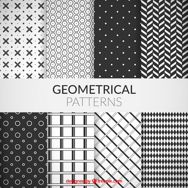Collection de motifs géométriques Vecteur gratuit