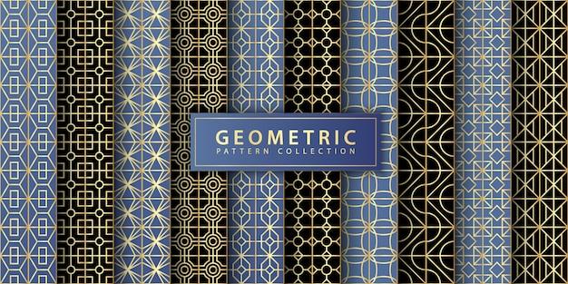 Collection de motifs géométriques Vecteur Premium