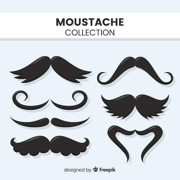 Collection de moustache Vecteur gratuit