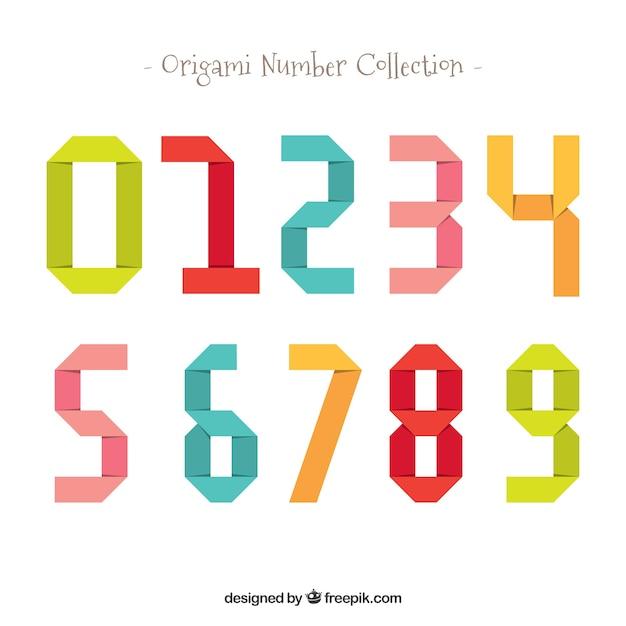 Collection de nombres colorés avec un design plat Vecteur gratuit