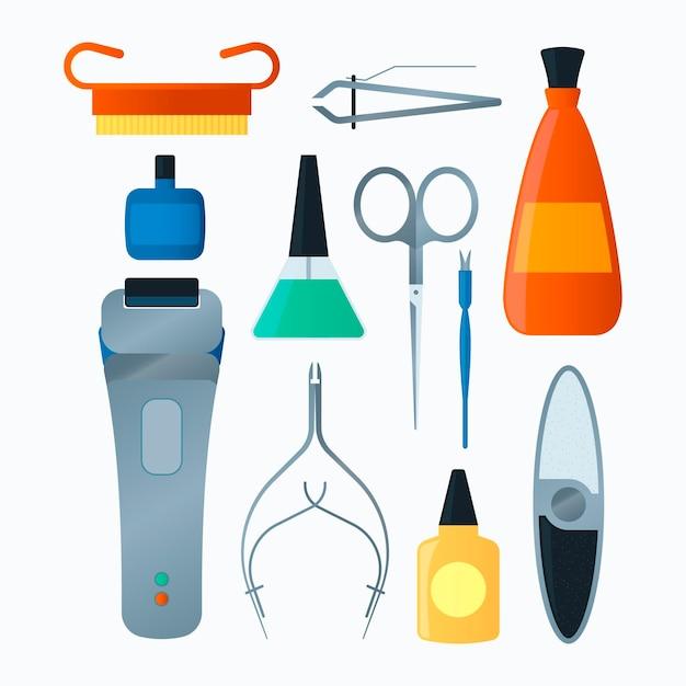 Collection D'outils De Manucure Vecteur gratuit