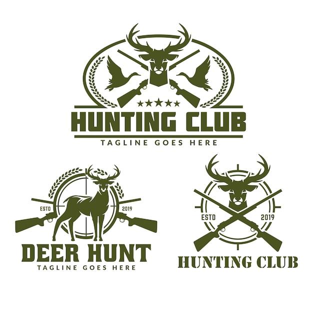 Collection de pack logo de chasse Vecteur Premium