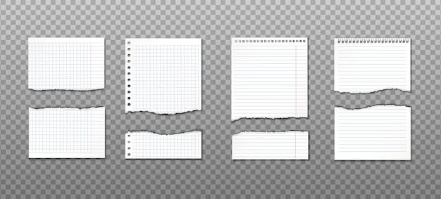 Collection De Papier Déchiré Avec Différentes Coupes. Rappel D'information Vecteur gratuit