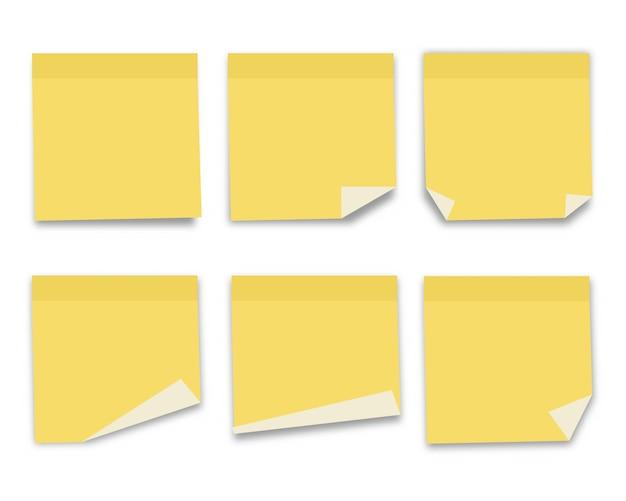 Collection de papier à notes. illustration vectorielle. Vecteur Premium