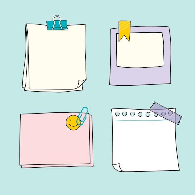 Collection de papiers colorés Vecteur gratuit