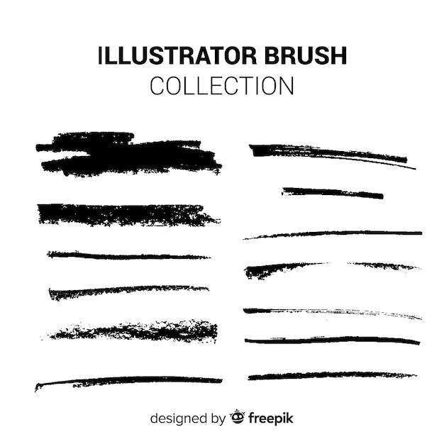 Collection de pinceaux illustrator Vecteur gratuit