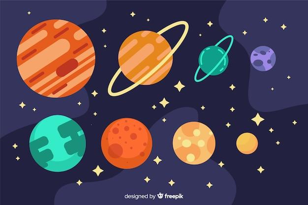 Collection Planète Design Plat Vecteur gratuit