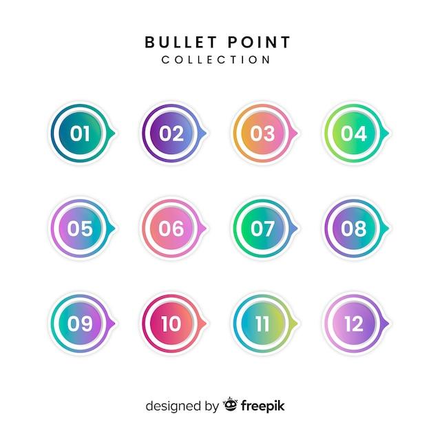 Collection De Points De Balle Colorée 3d Vecteur gratuit