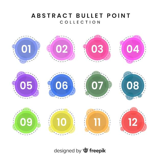 Collection de points de balle colorée abstraite Vecteur gratuit
