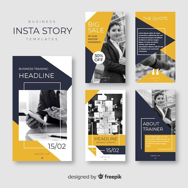 Collection de post d'affaires instagram Vecteur gratuit