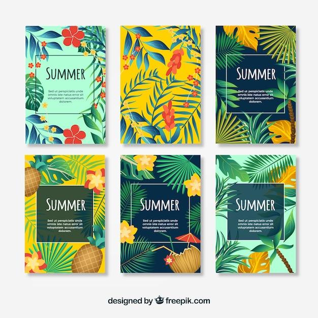 Collection Pour Les Cartes D'été Vecteur gratuit