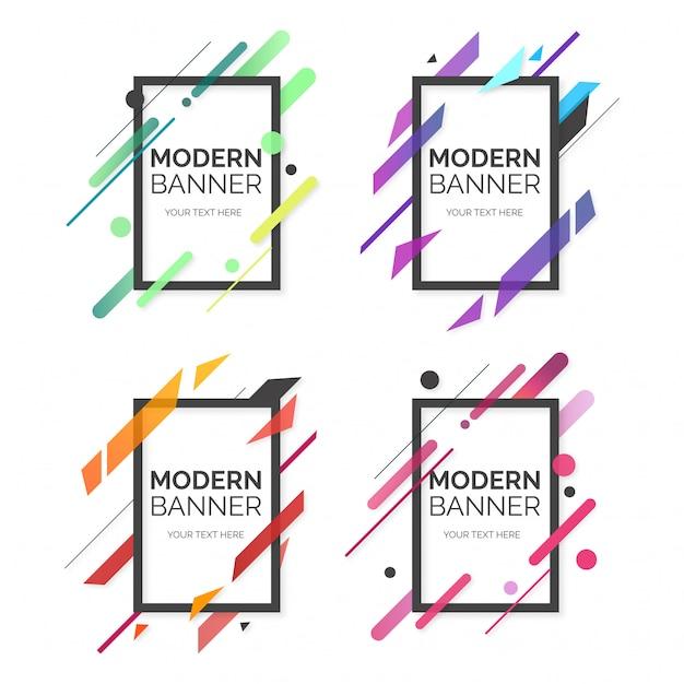 Collection professionnelle de bannière moderne Vecteur gratuit