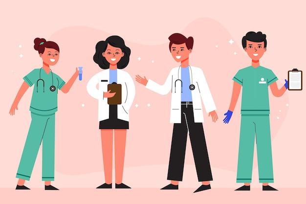 Collection Professionnelle De La Santé Vecteur Premium