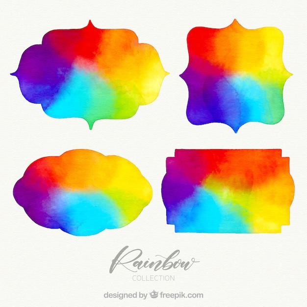 Collection rainbows de différentes formes Vecteur gratuit