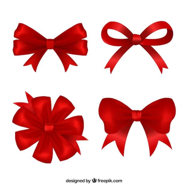 Collection réaliste des arcs rouges Vecteur gratuit