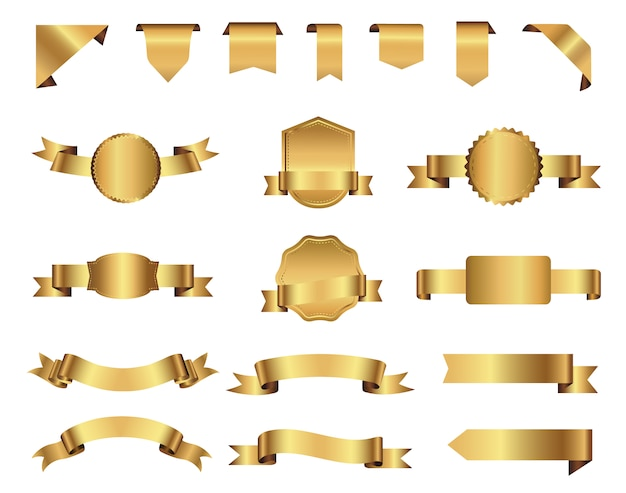 Collection de rubans de couleur Vecteur gratuit