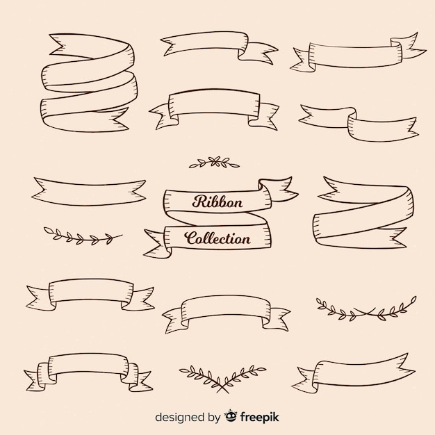 Collection de rubans vintage Vecteur gratuit