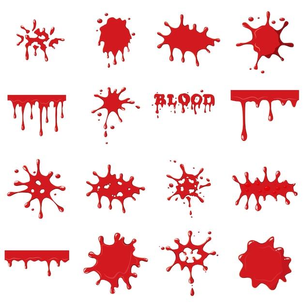 Collection de sang Vecteur Premium