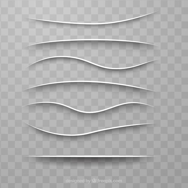 Collection de séparateurs de pages sans arrière-plan Vecteur gratuit