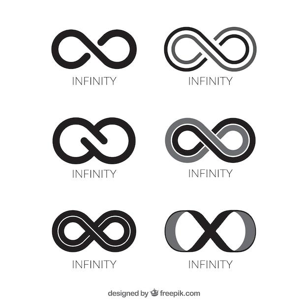 Collection de symboles noir infini Vecteur gratuit