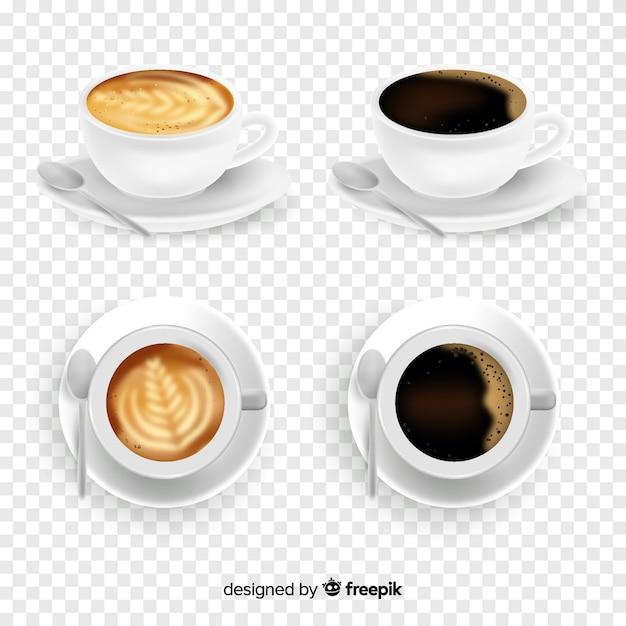 Collection de tasses à café Vecteur gratuit