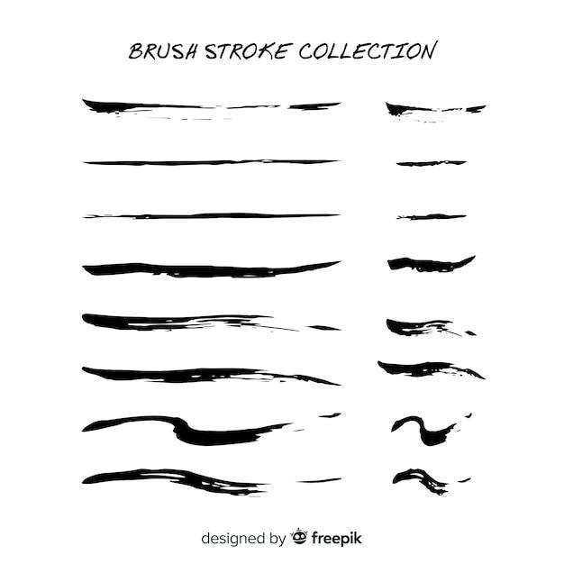 Collection De Traits De Pinceau Vecteur gratuit