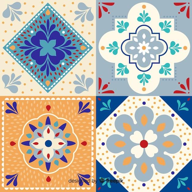 Collection de tuiles décoratives Vecteur gratuit