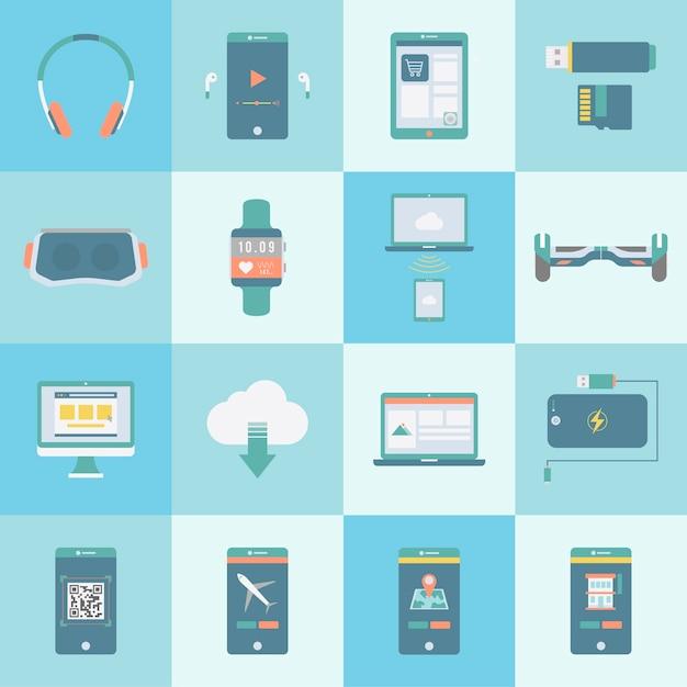 Collection de vecteurs d'appareils numériques Vecteur gratuit