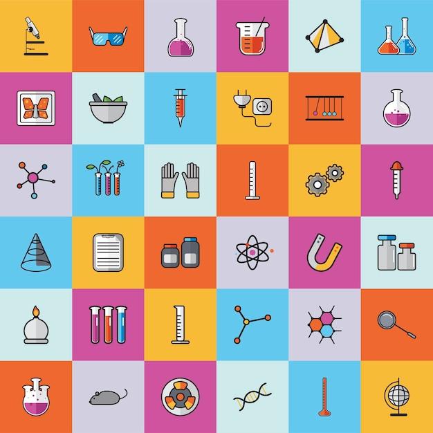 Collection de vecteurs de chimie Vecteur gratuit