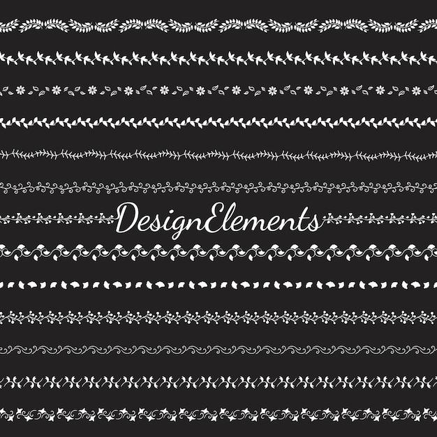 Collection de vecteurs d'éléments de conception de diviseur Vecteur gratuit