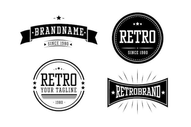 Collection Vintage De Logo D'entreprise Vecteur gratuit