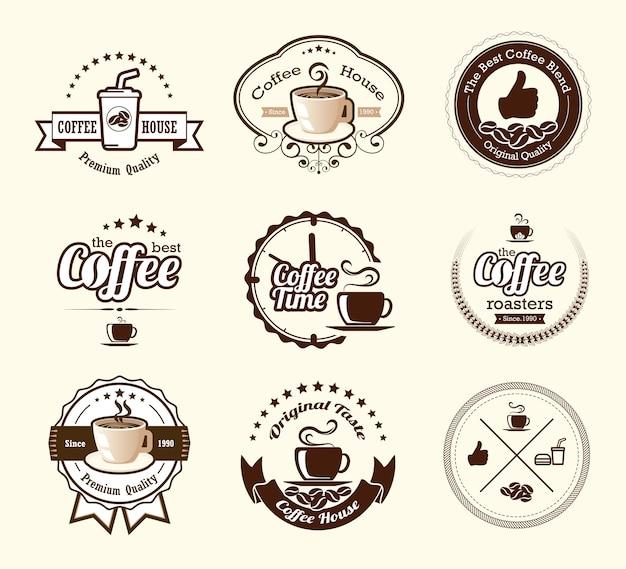 Collections de cafés Vecteur Premium