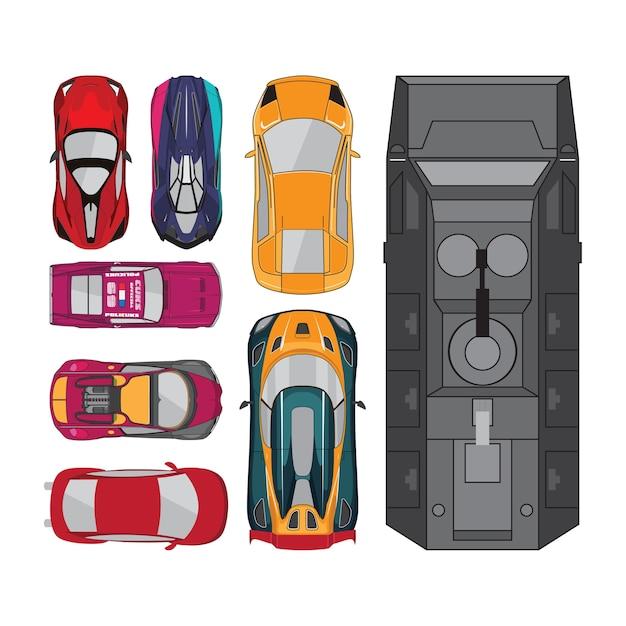 Collections de voitures haut de gamme Vecteur Premium