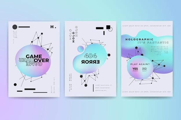 Coller La Collection De Couvertures Colorées Vecteur gratuit