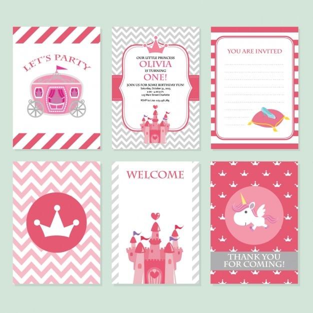 Coloré cartes d'anniversaire conception Vecteur gratuit