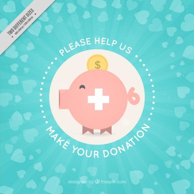 Coloré charité fond Vecteur gratuit