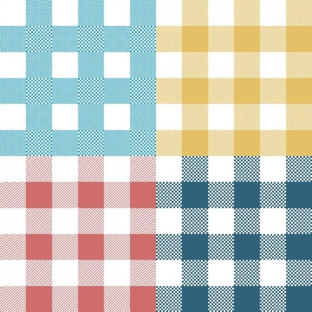 Coloré collection motifs carrés Vecteur gratuit