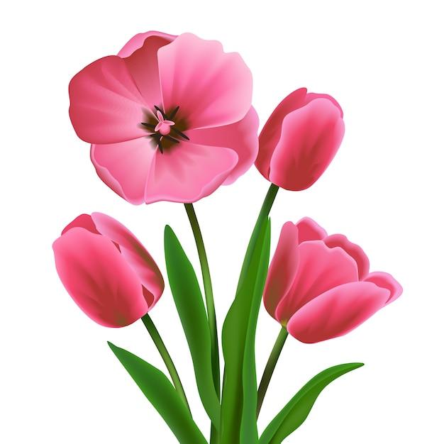 Coloré conception de fleur Vecteur Premium