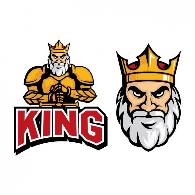 Coloré conception roi logo Vecteur gratuit
