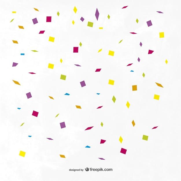 Coloré confettis fond Vecteur gratuit
