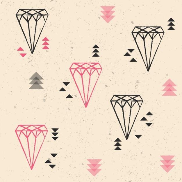 Coloré Diamants Fond Vecteur gratuit