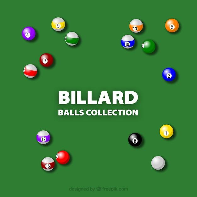Coloré jeu de billard boules vecteur Vecteur gratuit