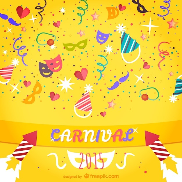 Colorful 2015 carnaval Vecteur gratuit