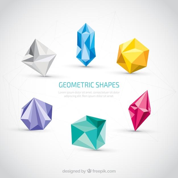 Colorful Formes Géométriques Vecteur gratuit