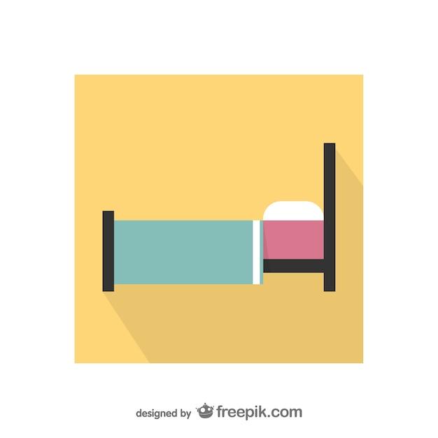 Colorful icône de lit Vecteur gratuit