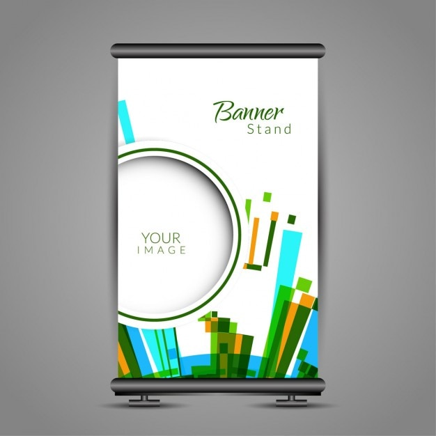 Colorful roll up mod le de stand de banni re t l charger for Exemple de stand