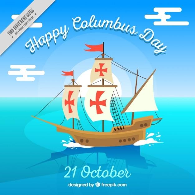 Columbus happy day background Vecteur gratuit