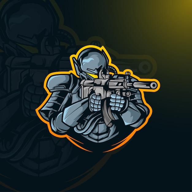 Combat De Soldat Vecteur Premium