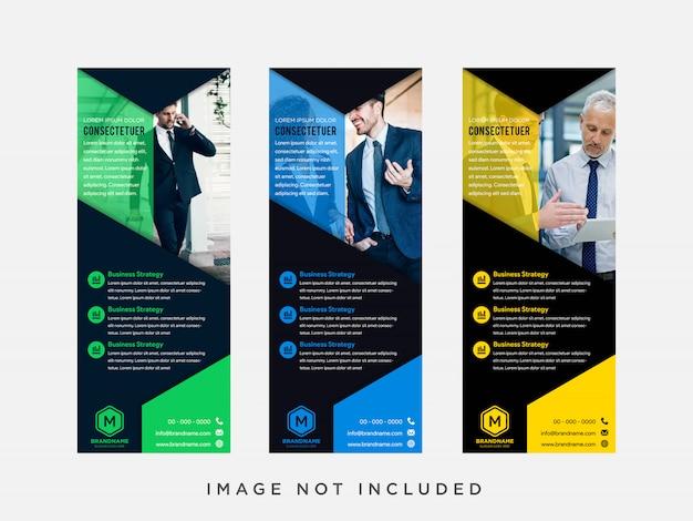 Combinaison De Couleurs Plates Bleues, Vertes, Noires Et Jaunes Vecteur Premium